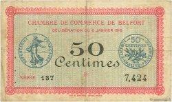 50 Centimes FRANCE régionalisme et divers BELFORT 1916 JP.023.17 TB