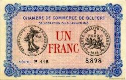 1 Franc FRANCE régionalisme et divers BELFORT 1916 JP.023.21 SPL à NEUF