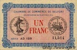 1 Franc FRANCE régionalisme et divers BELFORT 1916 JP.023.24 TTB à SUP