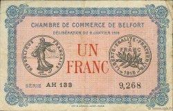 1 Franc FRANCE régionalisme et divers BELFORT 1916 JP.023.24 TB