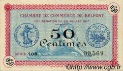 50 Centimes FRANCE régionalisme et divers Belfort 1917 JP.023.26 SPL à NEUF