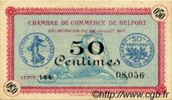 50 Centimes FRANCE régionalisme et divers BELFORT 1917 JP.023.26 TTB à SUP