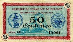 50 Centimes FRANCE régionalisme et divers BELFORT 1917 JP.023.26 TB