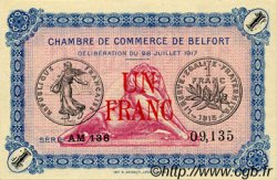 1 Franc FRANCE régionalisme et divers BELFORT 1917 JP.023.32 SPL à NEUF