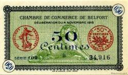 50 Centimes FRANCE régionalisme et divers Belfort 1918 JP.023.34 SPL à NEUF