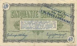 50 Centimes FRANCE régionalisme et divers Belfort 1918 JP.023.34 TTB à SUP