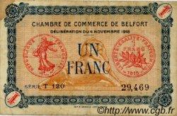 1 Franc FRANCE régionalisme et divers Belfort 1918 JP.023.37 TB