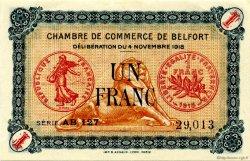 1 Franc FRANCE régionalisme et divers Belfort 1918 JP.023.40 SPL à NEUF