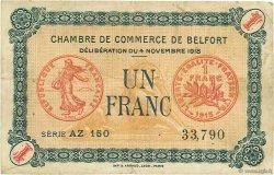 1 Franc FRANCE régionalisme et divers Belfort 1918 JP.023.40 TB