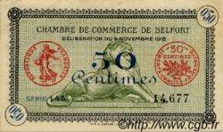 50 Centimes FRANCE régionalisme et divers BELFORT 1918 JP.023.41 TTB à SUP