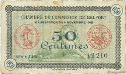 50 Centimes FRANCE régionalisme et divers BELFORT 1918 JP.023.41 TB