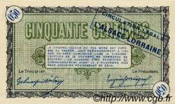 50 Centimes FRANCE régionalisme et divers Belfort 1918 JP.023.43 SPL à NEUF