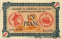 1 Franc FRANCE régionalisme et divers Belfort 1918 JP.023.44 TTB à SUP