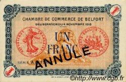 1 Franc FRANCE régionalisme et divers Belfort 1918 JP.023.46 SPL à NEUF
