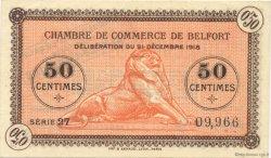 50 Centimes FRANCE régionalisme et divers Belfort 1918 JP.023.48 SPL à NEUF