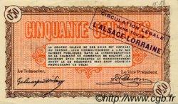 50 Centimes FRANCE régionalisme et divers Belfort 1918 JP.023.48 TTB à SUP