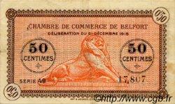 50 Centimes FRANCE régionalisme et divers Belfort 1918 JP.023.52 TTB à SUP