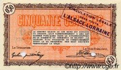 50 Centimes FRANCE régionalisme et divers BELFORT 1918 JP.023.53 SPL à NEUF