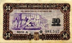 50 Centimes FRANCE régionalisme et divers BELFORT 1921 JP.023.56 TTB à SUP