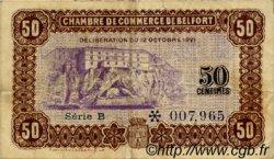 50 Centimes FRANCE régionalisme et divers BELFORT 1921 JP.023.56 TB