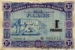 1 Franc FRANCE régionalisme et divers BELFORT 1921 JP.023.60 TTB à SUP