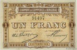 1 Franc FRANCE régionalisme et divers Bergerac 1914 JP.024.04 TTB à SUP