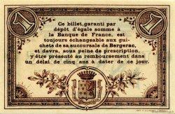 1 Franc FRANCE régionalisme et divers BERGERAC 1914 JP.024.05 SPL à NEUF