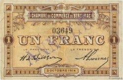 1 Franc FRANCE régionalisme et divers BERGERAC 1914 JP.024.05 TTB à SUP