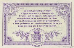 2 Francs FRANCE régionalisme et divers BERGERAC 1914 JP.024.06 SPL à NEUF
