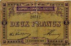 2 Francs FRANCE régionalisme et divers BERGERAC 1914 JP.024.06 TB