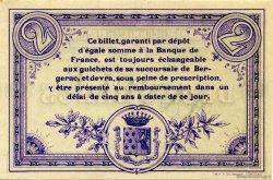 2 Francs FRANCE régionalisme et divers BERGERAC 1914 JP.024.07 SPL à NEUF