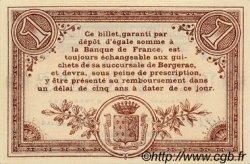1 Franc FRANCE régionalisme et divers BERGERAC 1914 JP.024.15 SPL à NEUF