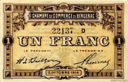 1 Franc FRANCE régionalisme et divers BERGERAC 1914 JP.024.15 TTB à SUP