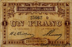 1 Franc FRANCE régionalisme et divers Bergerac 1914 JP.024.15 TB
