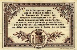 1 Franc FRANCE régionalisme et divers Bergerac 1914 JP.024.16 TTB à SUP