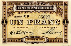 1 Franc FRANCE régionalisme et divers BERGERAC 1914 JP.024.18 SPL à NEUF