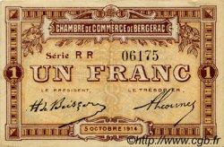 1 Franc FRANCE régionalisme et divers BERGERAC 1914 JP.024.18 TTB à SUP
