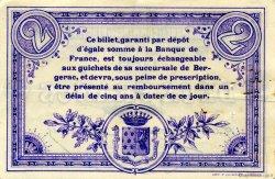 2 Francs FRANCE régionalisme et divers Bergerac 1914 JP.024.21 TTB à SUP