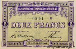 2 Francs FRANCE régionalisme et divers BERGERAC 1914 JP.024.22 SPL à NEUF