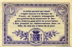 2 Francs FRANCE régionalisme et divers Bergerac 1914 JP.024.22 TTB à SUP