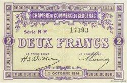 2 Francs FRANCE régionalisme et divers Bergerac 1914 JP.024.23 TTB à SUP