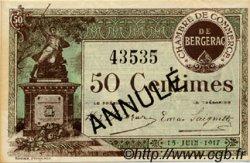 50 Centimes FRANCE régionalisme et divers BERGERAC 1917 JP.024.26 SPL à NEUF