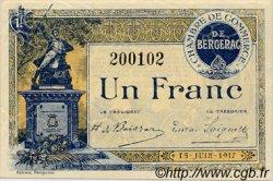 1 Franc FRANCE régionalisme et divers BERGERAC 1917 JP.024.27 SPL à NEUF