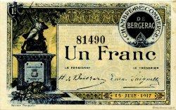 1 Franc FRANCE régionalisme et divers BERGERAC 1917 JP.024.27 TTB à SUP