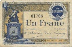 1 Franc FRANCE régionalisme et divers Bergerac 1917 JP.024.27 TB