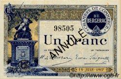 1 Franc FRANCE régionalisme et divers BERGERAC 1917 JP.024.29 SPL à NEUF