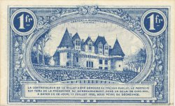 1 Franc FRANCE régionalisme et divers BERGERAC 1920 JP.024.37 SPL à NEUF