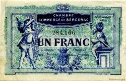 1 Franc FRANCE régionalisme et divers BERGERAC 1920 JP.024.37 TTB à SUP