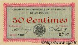 50 Centimes FRANCE régionalisme et divers Besançon 1915 JP.025.01 TTB à SUP