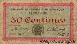 50 Centimes FRANCE régionalisme et divers BESANÇON 1915 JP.025.01 TB